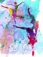 Two Ballerinas Watercolor 4 Fine Art Print