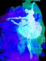 Purple Ballerina Watercolor Fine Art Print