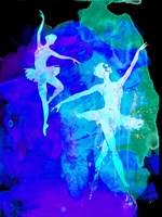 Two White Dancing Ballerinas Fine Art Print