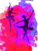 Two Dancing Ballerinas Fine Art Print