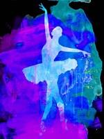 White Ballerina Watercolor 1 Fine Art Print