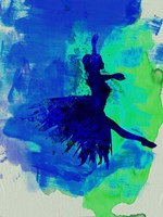 Ballerina on Stage Watercolor 5 Fine Art Print