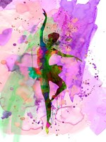 Ballerina Dancing Watercolor 1 Fine Art Print