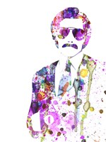Anchorman Watercolor 1 Fine Art Print