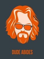 Dude Abides Orange Fine Art Print