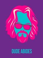 Dude Abides Purple Fine Art Print