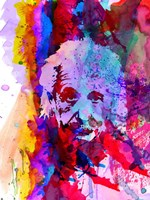 Einstein Watercolor Fine Art Print