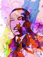 Martin Luther King Watercolor Fine Art Print