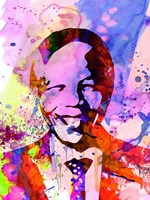 Nelson Mandela Watercolor Fine Art Print