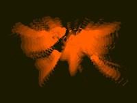 Orange Radiant  World Map Fine Art Print