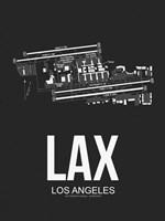 LAX Los Angeles Airport Black Fine Art Print