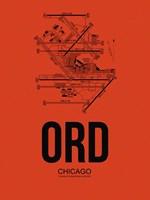 ORD Chicago Airport Orange Fine Art Print
