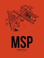 MSP Minneapolis Airport Orange Fine Art Print