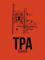 TPA Tampa Airport Orange Fine Art Print
