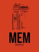 MEM Memphis Airport Orange Fine Art Print