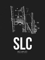 Salt Lake City Airport Black Fine Art Print
