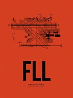 FLL Fort Lauderdale Airport Orange Fine Art Print