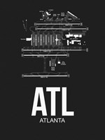 ATL Atlanta Airport Black Fine Art Print