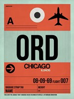 ORD Chicago Luggage Tag 2 Fine Art Print