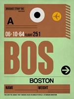 BOS Boston Luggage Tag 1 Fine Art Print