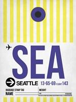 SEA Seattle Luggage Tag 1 Fine Art Print