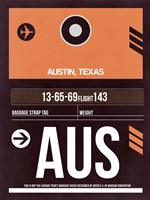 AUS Austin Luggage Tag 2 Fine Art Print