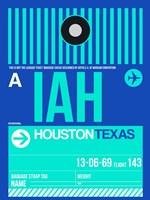 IAH Houston Luggage Tag 2 Fine Art Print