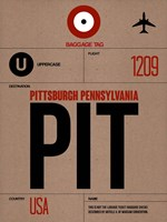 PIT Pittsburgh Luggage Tag 1 Framed Print
