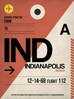 IND Indianapolis Luggage Tag 1 Fine Art Print