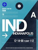 IND Indianapolis Luggage Tag 2 Framed Print