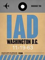 IAD Washington Luggage Tag 1 Fine Art Print