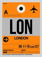 LON London Luggage Tag 1 Fine Art Print