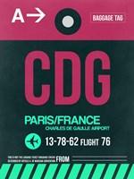 CDG Paris Luggage Tag 1 Fine Art Print