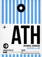ATH Athens Luggage Tag 1 Fine Art Print