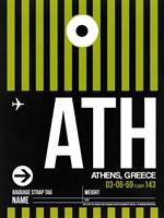 ATH Athens Luggage Tag 2 Fine Art Print
