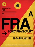 FRA Frankfurt Luggage Tag 2 Fine Art Print