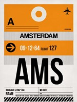 AMS Amsterdam Luggage Tag 2 Framed Print