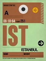 IST Istanbul Luggage Tag 2 Fine Art Print