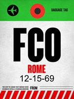 FCO Rome Luggage Tag 1 Fine Art Print