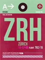 ZRH Zurich Luggage Tag 2 Fine Art Print