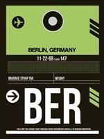 BER Berlin Luggage Tag 2 Fine Art Print