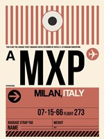 MXP Milan Luggage Tag 1 Fine Art Print