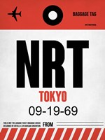 NRT Tokyo Luggage Tag 1 Fine Art Print