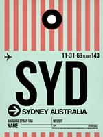 SYD Sydney Luggage Tag 1 Fine Art Print