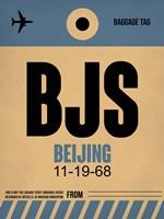 BJS Beijing Luggage Tag 2 Fine Art Print