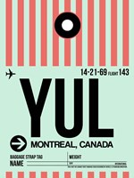 YUL Montreal Luggage Tag 2 Fine Art Print