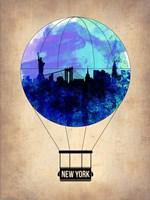 New York Blue Air Balloon Fine Art Print