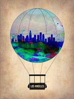 Los Angeles Air Balloon Fine Art Print