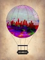 Los Angeles Air Balloon 2 Fine Art Print