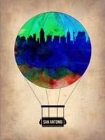 San Antonio Air Balloon Fine Art Print